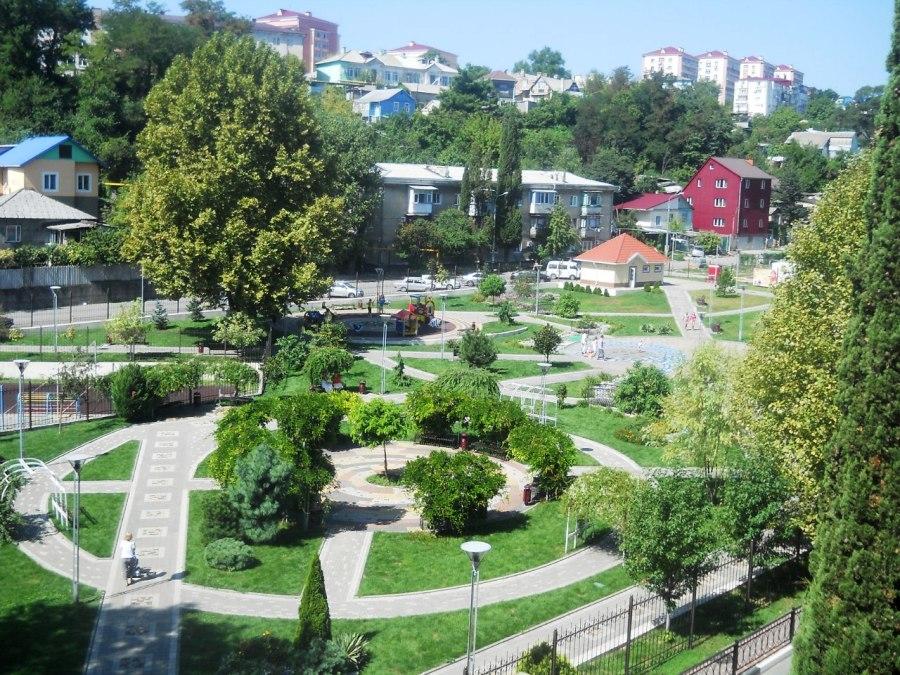 Парки и скверы города Туапсе